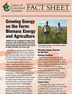 Cover of Growing Energy on the Farm fact sheet