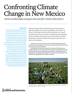 Cover of UCS report on climate change in New Mexico