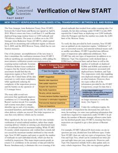 Cover of fact sheet on verification of New START treaty