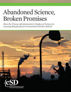 Cover of UCS report Abandoned Science, Broken Promises