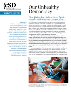 Cover of UCS report Our Unhealthy Democracy