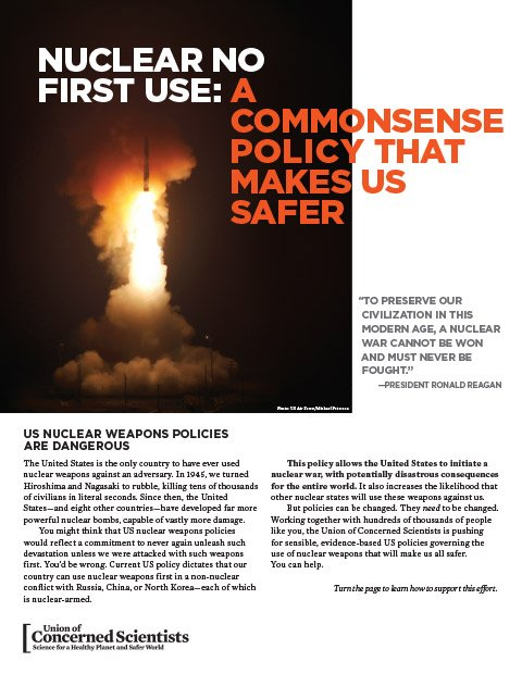 Cover of the Nuclear No First Use Policy Activist Resource
