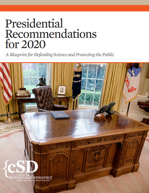 Cover of UCS report, Presidential Recommendations for 2020