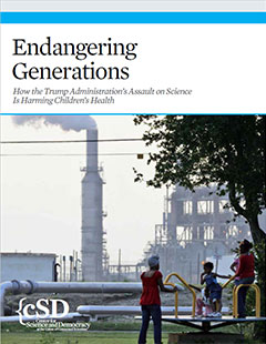 Cover of UCS report, Endangering Generations