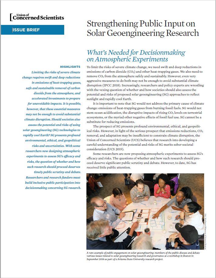 Solar Geoengineering report cover