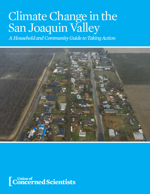 Cover of the community guide for climate change in San Joaquin Valley