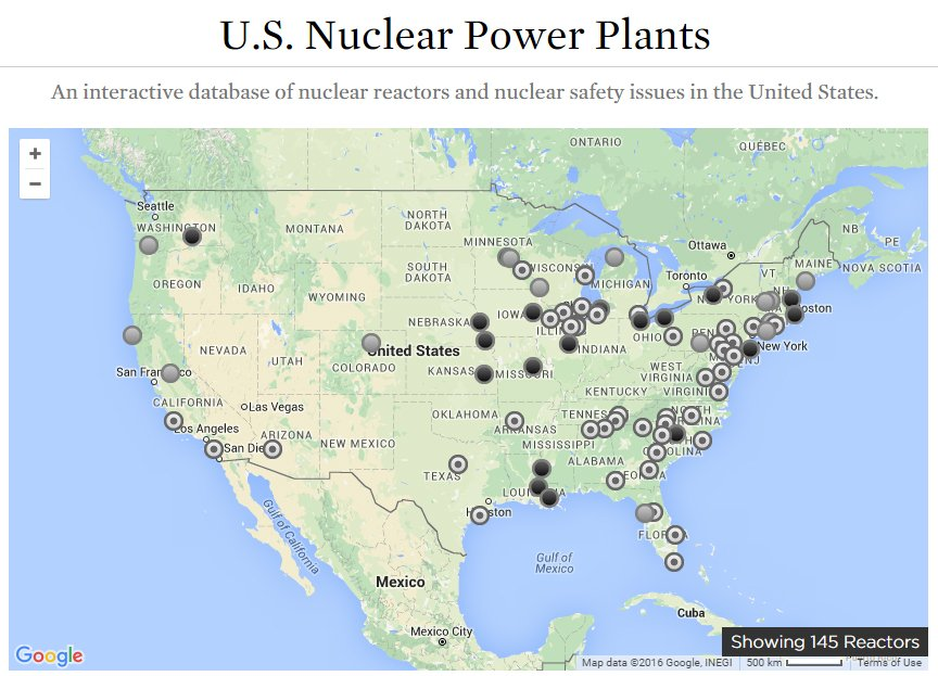 Near Misses At US Nuclear Power Plants In Union Of - Map of all nuclear power plants in the us