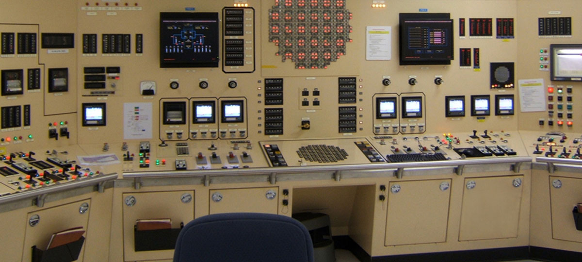 Control room in a nuclear power plant