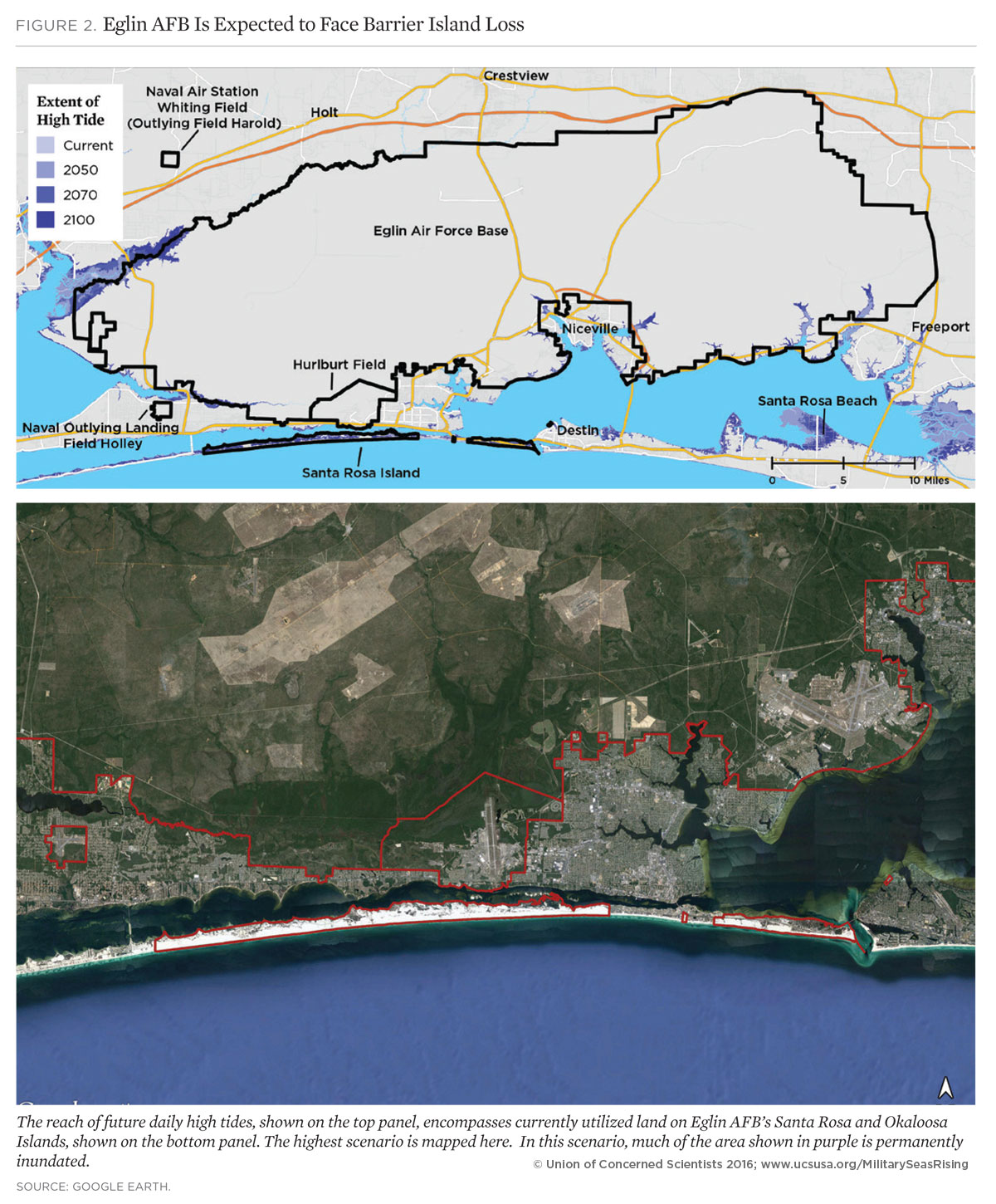 eglin air force base flooding map