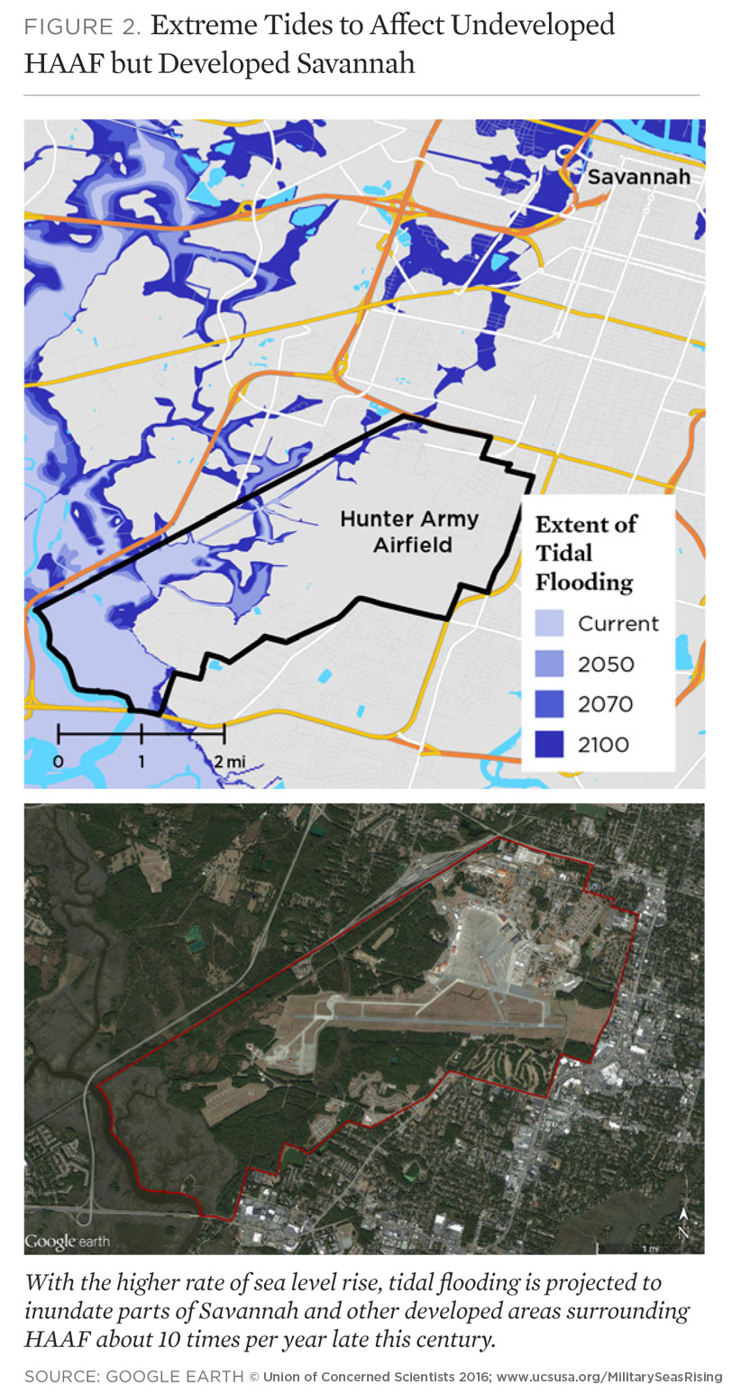 On The Front Lines Of Rising Seas  Hunter Army Airfield