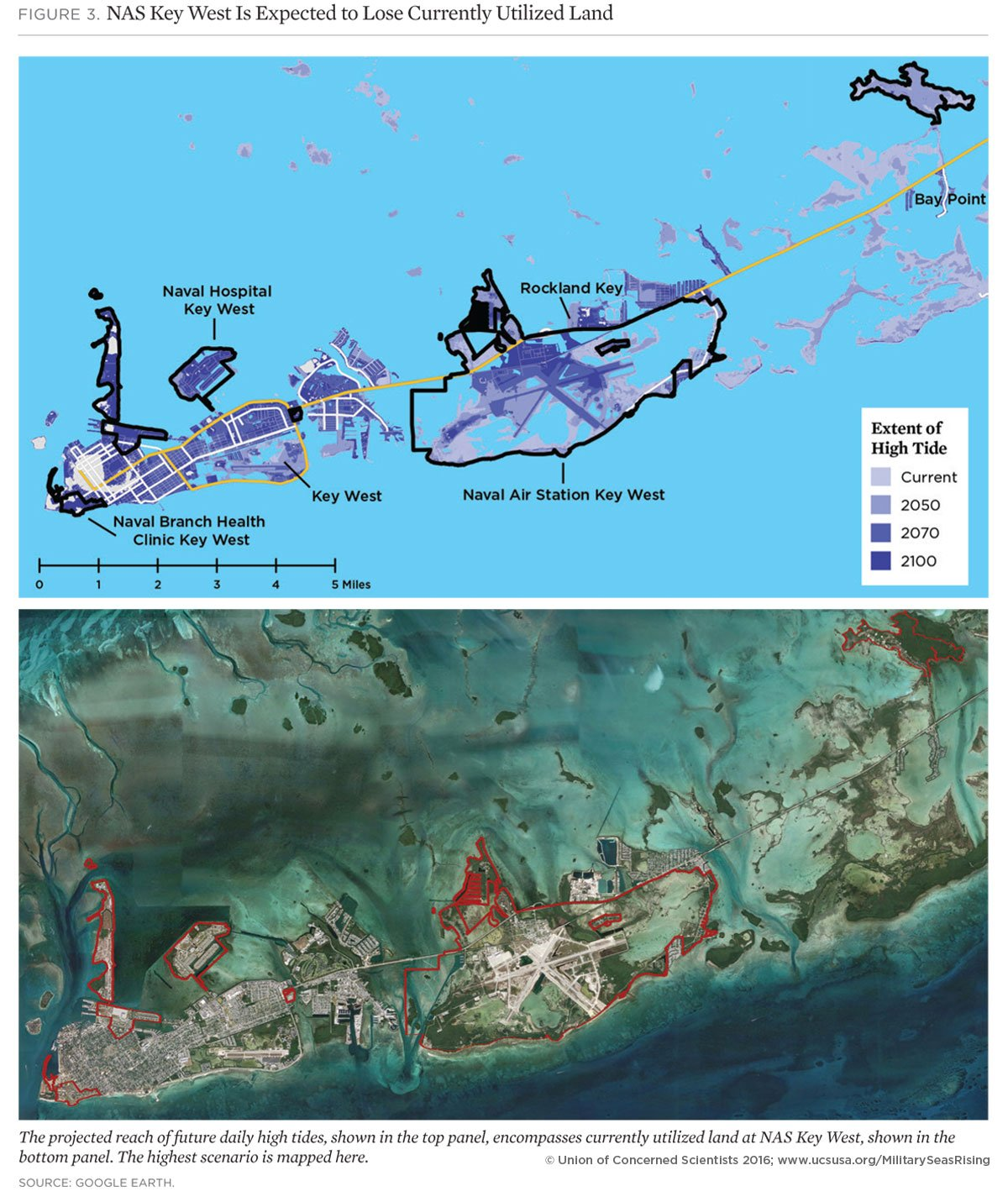 On The Front Lines Of Rising Seas Naval Air Station Key West - Florida map key west