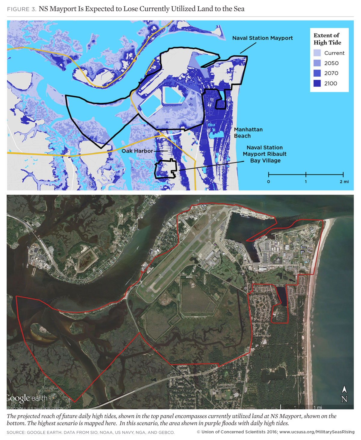 On The Front Lines Of Rising Seas Naval Station Mayport Florida - Us navy flood map
