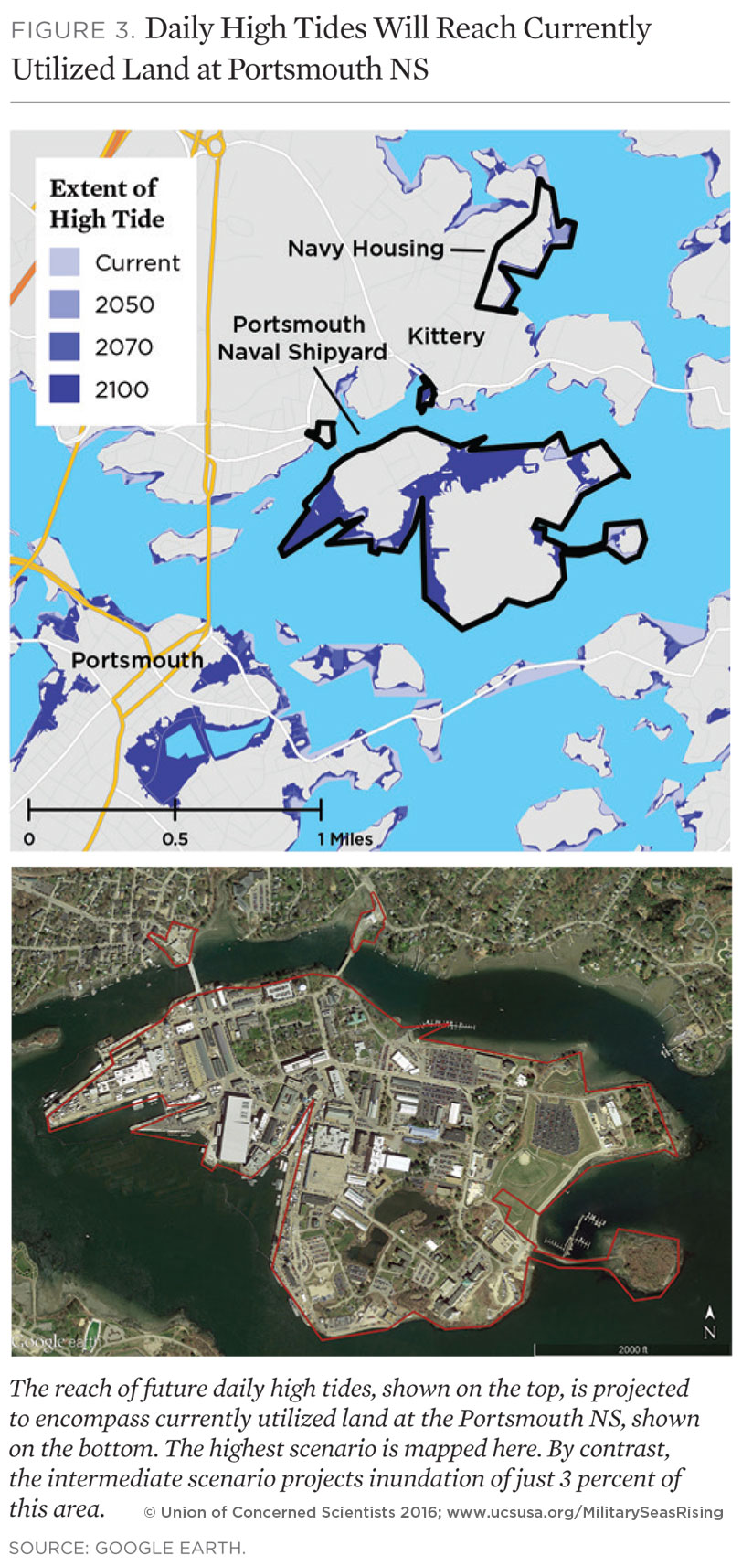 On The Front Lines Of Rising Seas Portsmouth Naval Shipyard - Us navy sea level rise map