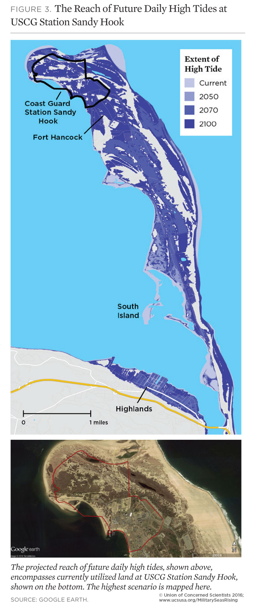 On The Front Lines Of Rising Seas US Coast Guard Station Sandy - Us coast guard stations map