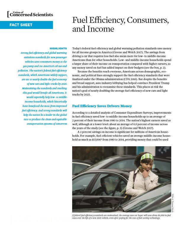 Fuel Efficiency, Consumers, and Income (2017) | Union of Concerned ...