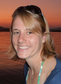 Photo of Adrienne Keller by water