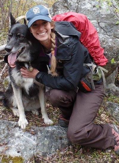Photo of Lindsay Wancour with dog