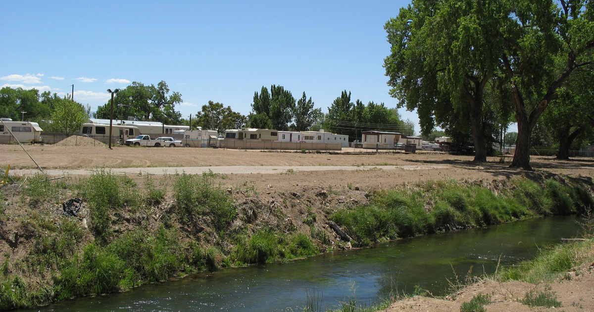 An acequia in Los Lunas, New Mexico
