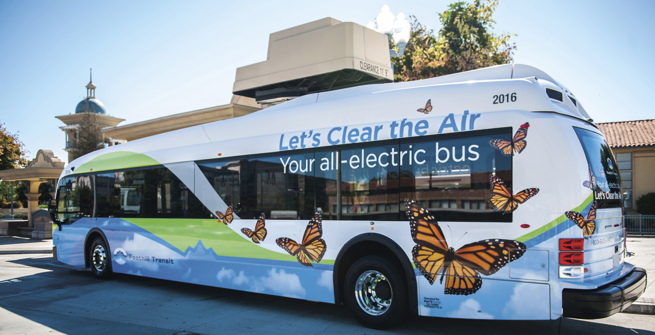 Electric bus in California