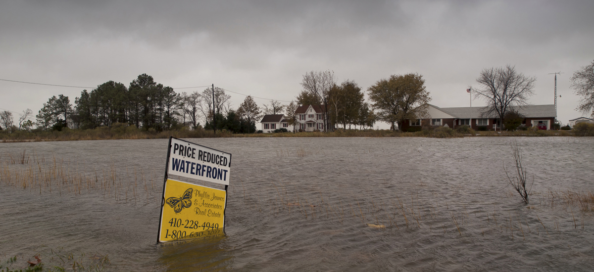 Flooded property sign
