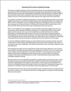 Global warming opinion essay