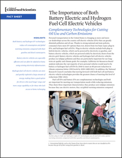Battery Electric And Hydrogen Fuel Cell Vehicles 2017 Union Of Concerned Scientists
