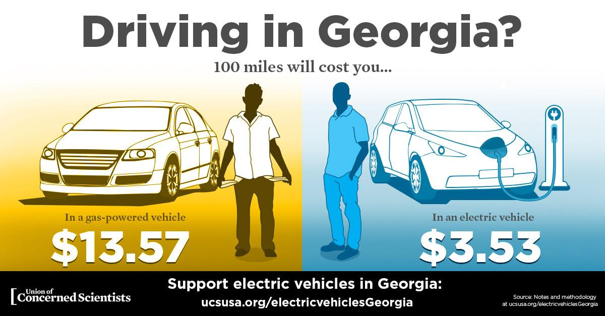 Electric Cars Vs Gas Cars >> Electric Vehicles And Georgia Union Of Concerned Scientists