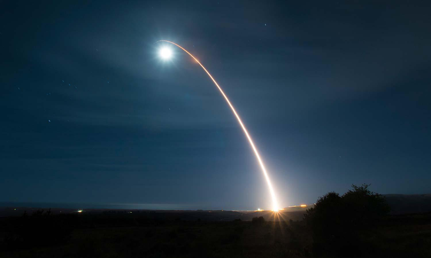 unarmed Minuteman III intercontinental ballistic missile test launch from Vandenberg Air Force Base, Calif. (