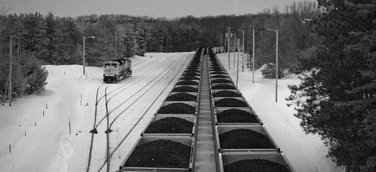A train transporting coal