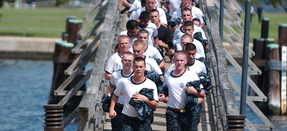 group doing training run at us naval academy annapolis