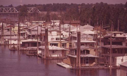 A 1970s photo of the Columbia Slough in Portland, OR