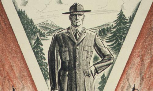 An illustration of a park ranger