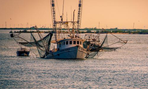 Fishing boat off Grand Isle, Louisana