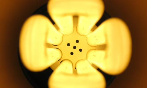 Closeup image of a lightbulb.