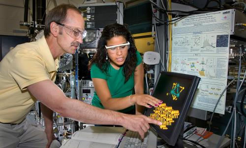 Two scientists at Brookhaven National Laboratory