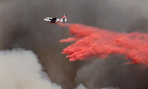 Phos-check drop during a wildfire.