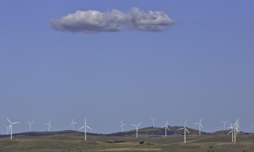 Wind turbines in the west