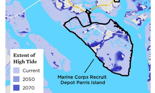 map of parris island flooding