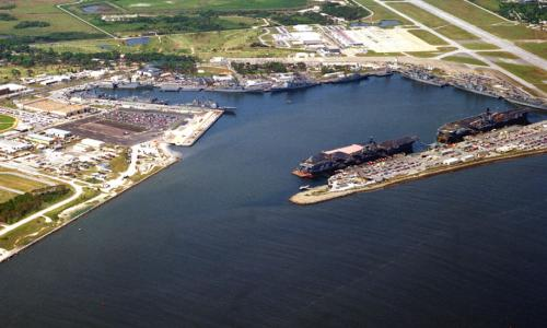 aerial photo of naval station mayport