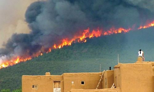wildfire near taos pueblo